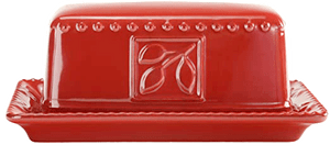 Ruby Butter Dish