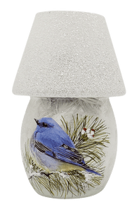 Winter Blue Bird Nightlight with Shade
