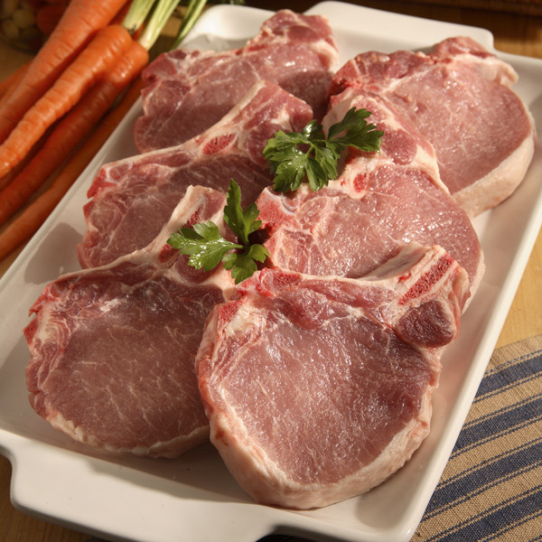 Gather your family for a wholesome sit-down Sunday Dinner. Package includes:  2 5oz Boneless Gerber's chicken Breasts 2 8oz Chopped Sirloin Beef Steaks 2 5oz Boneless Pork Loin Chops 2 8oz Smoked Ham Steaks