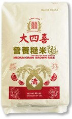 02355	MEDIUM GRAIN BROWN RICE	HAPPY 40 LB