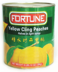 12012YELLOW CLING PEACHES HALFFORTUNE 6/A10