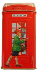 33221	LONDON TELEPHONE BOX TIN	AHMAD #480 12/25 TEABAGS