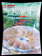 91181	(44202)DUMPLING LEEK & PORK	O'TASTY GREEN 12/30 PC