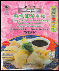 91368	SHRIMP/CHICKEN & LEEK DUMPLING	FORTUNE AVE 14/18 OZ