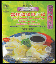 91369	PORK & MUSTARD GREEN DUMPLING	FORTUNE AVE 14/18 OZ