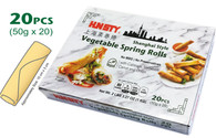 91573	VEGETABLE SPRING ROLL	HUNSTY 10/20PCS/50G