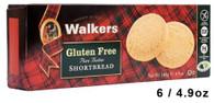 43305 GLUTEN FREE SHORTBREAD ROUND WALKERS 6/4.9OZ