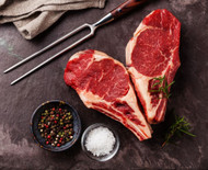 USDA Choice Bone-In Ribeye (Prime Rib) Steaks - 16 oz