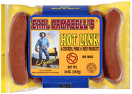 Earl Campbell's Hot Links/Campbells/Campbell Sausage - 10 pounds