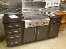 Challenger CH11CHA Luxury Prefab Outdoor Kitchen With Grill--Complete Package