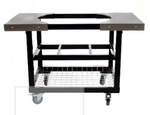 Primo PRM370 Cart With Basket & Stainless Steel Side Table For Oval LG300 & XL400 Grills