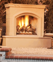 AFD015 Phoenix With Back Venting Premium Outdoor Fireplace