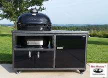 "Primo PRC778CHOG14189 Oval XL Smoker BBQ Grill Plus Challenger 54"" Grill Cart Complete Package"