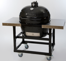 Primo PRC774320 Primo Oval JR Smoker BBQ Grill And Cart With Basket Storage Package
