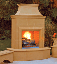 AFD025 Petite Cordova Outdoor Premium Fireplace