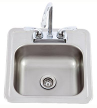 Lion 54167 15 X 15 Stainless Steel Sink With Faucet