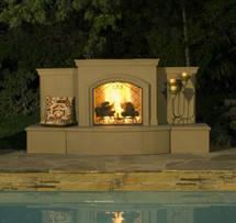AFD118 Grand Phoenix Vent Free Premium Outdoor Fireplace