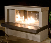 AFD082 Manhattan Outdoor Fireplace With Stainless Steel Firebox
