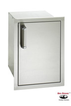 Fire Magic 53820SC-R Premium Right Hinged Flush Mount 14 Inch Single Door W/Dual Drawers