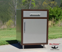 Challenger Propane Base Module With Slide Out Tank Tray, One Door, & One Drawer-Includes Countertop & Finished Back-Mix & Match To Design Your Own Layout! Completely Finished-Choose Your Own Colors!