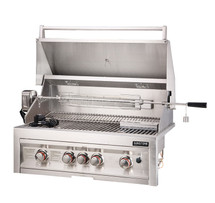 "SUN4B-IR Sunstone 4 Burner 34"" Grill With Infrared Back Burner And Rotisserie"