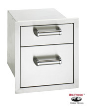 Fire Magic 53802SC Premium Flush Mount 14 Inch Double Access Drawer