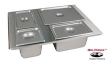 Fire Magic 23830-SW-CD Built-In Buffet Server & Food Warmer-For Use With Warming Drawers