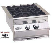 Fire Magic 19-SLB2N-0 Aurora Built-In Gas Power Burner Featuring Cast Brass Burner With Porcelain Cast Grid