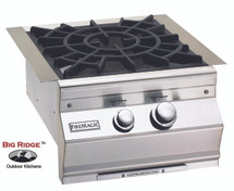 Fire Magic 19-S0B2N-0 Aurora Built-In Power Burner Featuring Cast Brass Burner and Porcelain Cast Iron Grid