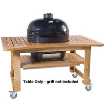 Primo PRM615 Teak Table For Oval LG300 Grill