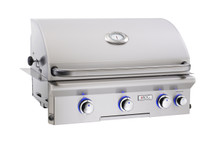 AOG 30NBL L-Series 30-Inch Built-In Gas Grill With Rotisserie & Interior Halogen Lighting