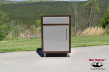 Challenger Outdoor Sink Base Module One Or Two Doors With Countertop & Finished Back-Various Widths Available-Mix & Match To Design Your Own Layout! Completely Finished-Choose Your Own Colors!