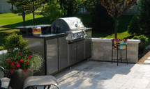 Challenger CH5CHA Luxury Prefab Outdoor Kitchen Grill And Raised Bar--Complete Package