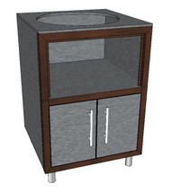 Challenger Ceramic Grill Base Module With One Or Two Doors, Countertop & Finished Back-Various Widths Available-Mix & Match To Design Your Own Layout! Completely Finished-Choose Your Own Colors!