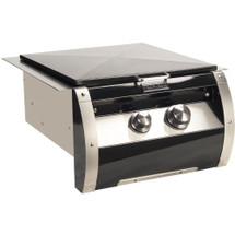 Fire Magic 19-HB2N-0 Echelon Black Diamond Gas Built-In Power Burner With Porcelain Cast Grid