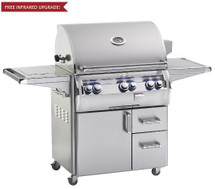 Fire Magic E790s-4EAN-62 Echelon Diamond 36-Inch Freestanding Gas Grill With Analog Thermometer And Single Side Burner