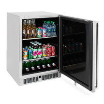 Lynx LM24BF L/R 24-Inch 5.3 Cu. Ft. Stainless Steel Right Or Left Hinge Outdoor Refrigerator -With Keg Option