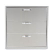 Blaze 30 Inch Wide Triple Drawers Big Ridge Outdoor Kitchens