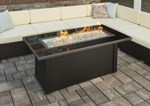 Outdoor GreatRoom Company MCR-1242-BLK-K Monte Carlo Fire Pit Table