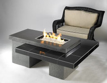 Outdoor GreatRoom Company UPT-1224 Uptown Fire Pit Table In Black With 1224 Burner