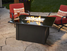 Outdoor GreatRoom Company  GS-1224-BLK-K Grandstone Fire Pit Table In Absolute Black