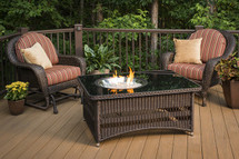Outdoor GreatRoom Company NAPLES-CT-B-K Naples Fire Pit Table