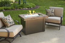 Outdoor GreatRoom Company PROV-1224-MNB-K Providence Fire Pit Table with Marbleized Noche Top