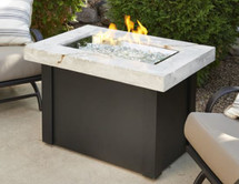Outdoor GreatRoom Company PROV-1224-WO-K Providence Fire Pit Table with White Onyx Marbelized Top