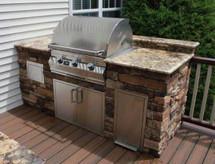 Display Special Big Ridge Alexandria 8' Outdoor Kitchen With Appliances