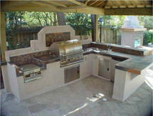Display Special Big Ridge Bay Minette U-Shaped Outdoor Kitchen Package With Appliances