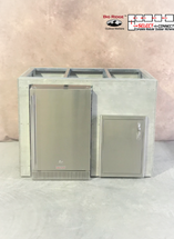 "48"" Mod Refrigerator & Single Door"
