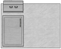 "48"" Mod Single Door & Double Burner"