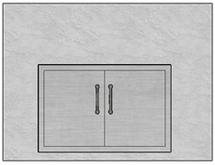 """48"""" Mod Double Doors"""