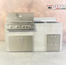 R-71GDDODDBLSBC RTF SNC Grill, Double Doors, Double Drawers With Split Bar Counter
